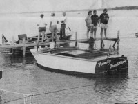 Antique boats on display in 1990