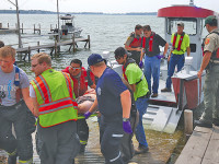 New fire boat helps in Lake rescue