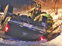 Vehicle rollover sends one to hospital