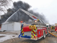 Tire warehouse goes up in smoke