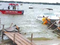 Quick moving storm causes dock collapse