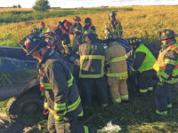 Boys injured in truck rollover