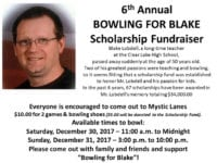 Bowling for Blake fundraiser planned