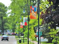 Flags complete North Shore streetscape