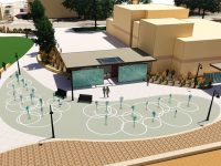Expanded splash pad, beach project presented