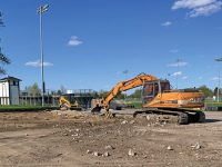 Work underway at Lions Field